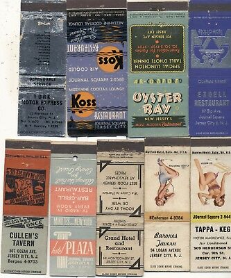 9 JERSEY CITY NJ match book ad covers
