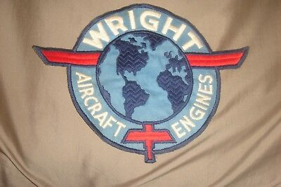 WWII Wright Aircraft Engines Large Coverall Back Patch Original USA Made