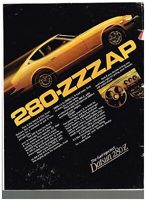 Old Vintage Magazine Ad For Datsun 280Z Automobile Wow Look