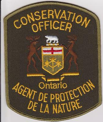 Canada Ontario DNR De La Nature Conservation Officer Game Warden Police Patch