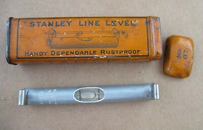 Vintage Stanley No. 87 Line Level with Metal Box.