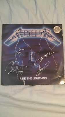 Metallica Autographed Signed Ride The Lightning Album Record Lp ALL 4!