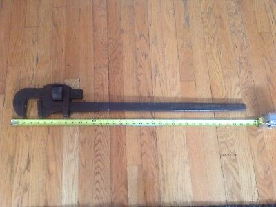 "Vintage 36"" Inch Trimont Pipe Wrench, Usa"