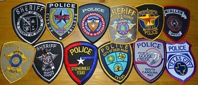 12 different Texas TX Police & Sheriff patches NEW