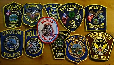 11 different Connecticut Police & Sheriff patches NEW