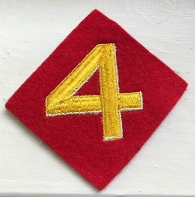 USMC Fourth Division Felt Patch, Original