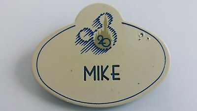 Disney cast member badge pin MIKE 20th anniversary logo