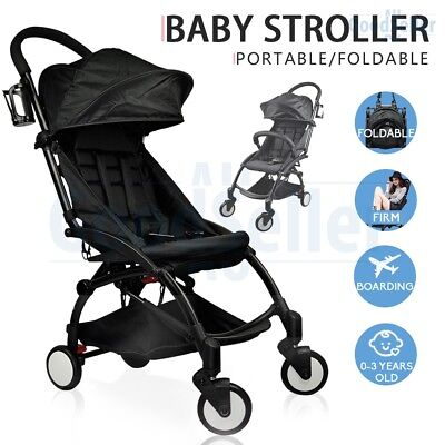 Compact Lightweight Baby Stroller Pram Pushchair Folding Travel Carry on Plane