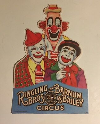 Vintage 1979 RINGLING BROTHERS CIRCUS Felt Banner Pennant Colorful 17.5 X 11.5