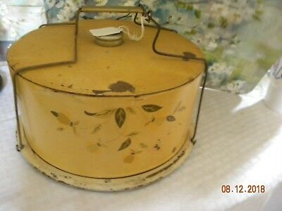 Hall Autumn Leaf Jewel Tea Metal Cake Carrier with Cover