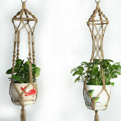 Plant Hanger Hook Macrame Handmade Hemp Rope Macrame Flowerpot Holder Durable