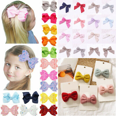 2pcs 3 Inch Baby Hair Bows For Girls Kids Hair Clip Accessories For Baby Kids