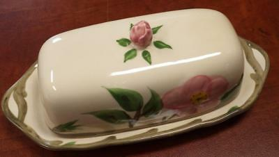 1985 Franciscan Desert Rose Covered Butter Dish Made in England