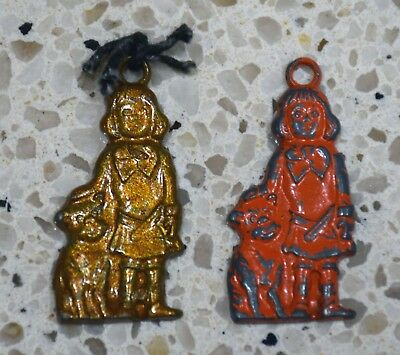 2 Vintage Buster Brown and Tige Premium Charms Buster Brown Shoes-1930's