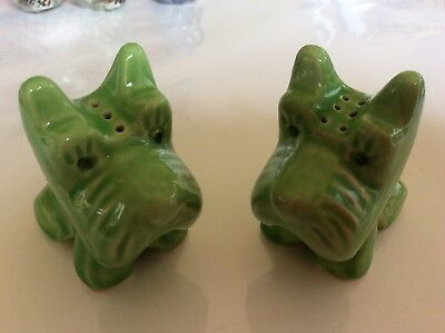 Vintage Scottie Dog Salt And Pepper Shakers,so Cute!