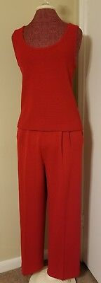 "St. John by ""Marie Gray"" BEAUTIFUL Women's Red 3 Piece Pant/skirt Suit SZ 12"