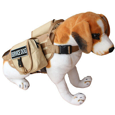 TACTICAL POLICE TRAINING DOG VEST HARNESS BACKPACK for Large Dogs Pit Bull Bully