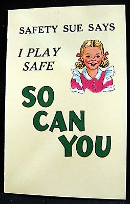 Coca Cola Safety Sue Promotional Giveaway Booklet dated 1951 Old Unused Stock