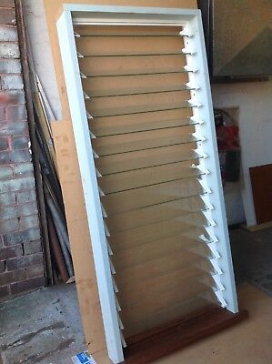 Louvre window.Timber and glass. New, unused.