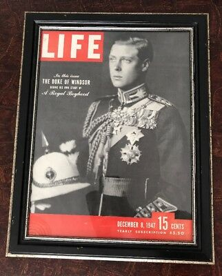RARE Prince Of Wales King Edward VIII Professionally Framed Life Magazine Cover