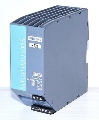 Siemens 6EP13332BA20 SITOP PSU100S Power Supply 24VDC 5A