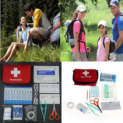 0C05 11pcs Family First Aid Kit Set Outdoor Emergency Bag Case Camping Medical