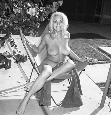 1960s Ron Vogel Negative, busty nude pin-up girl Karen Swanson outdoors, t207295