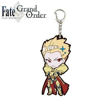 A3 Fate/Grand Order Night Trading Rubber Strap Keychain Charm Archer Gilgamesh