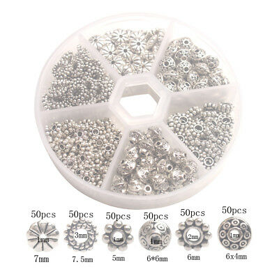300PCS/box Antiqued  Metal Styles Of Bali Daisy Spacer Beads for Jewelry Making