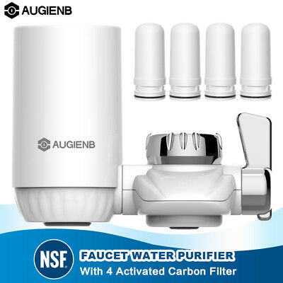 AUGIENB 4-Stage On-Tap Water Filter Faucet Filtration System Kitchen Drinking
