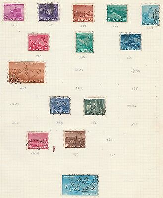 INDIA COLLECTION Transport, etc on Old Book Pages,As Per Scan, Removed to Send #