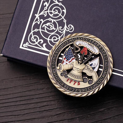 1775 U.S. Army Core Values Military Commemorative Challenge Coin, Hollowed Out