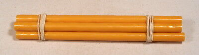 Beautiful rare lot of galalith yellow marbled 5 rods 133 grams