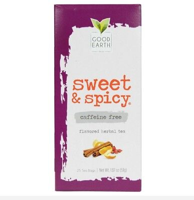 Good Earth Sweet and Spicy Herbal Tea Blend 1 Box of 25 Tea Bags No Caffeine