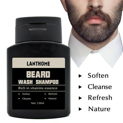 Lanthome Beard Shampoo Anti Dandruff Nourishing Moisturizing Facial Oil Cleanse