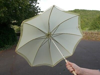 Vintage parasol by 'Rainshield' with mother of pearl handle