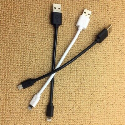 Short USB Cable Charger Data Sync Small Charging Cord for iPhone Samsung HTC LG