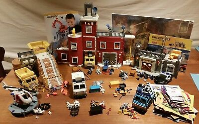 Fisher Price Imaginext -Rescue Center,Police Station,Construction site + 7 More!