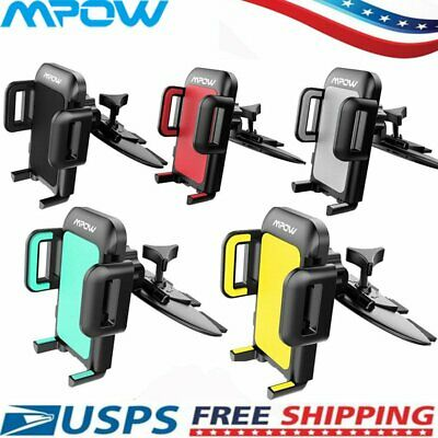 mpow 360° Car Holder CD Slot Mount Bracket For Mobile Cell Phone iPhone Samsung