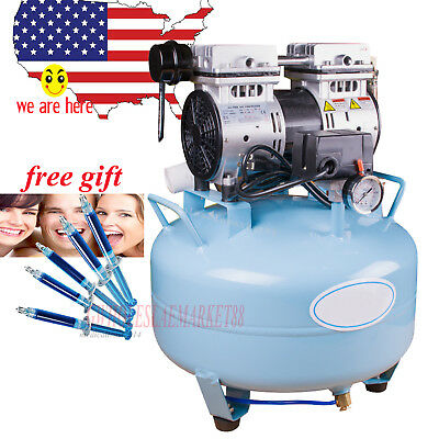 30L 550W Dental Noiseless OIL FREE Oilless Air Compressor +gift whitening gel