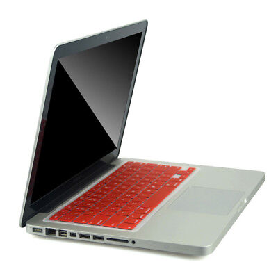 Red Silicone Keyboard Cover Protect Skin Film For MacBook Pro Retina 15""