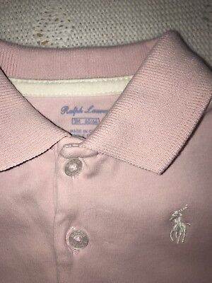 Ralph Lauren Pink Baby Girl Dress And Knickers Matching  0-3 Months