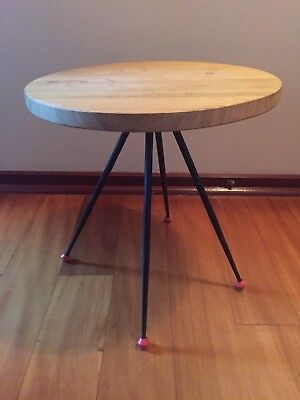 Vintage Atomic Side Table Bedside Coffee Table Plant Stand Mid Century Scandi