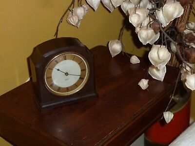 Vintage Art Deco Smith Sectric Mantle Clock Electric Made In England Working