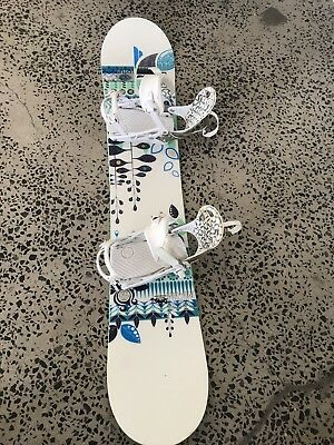 Salomon Womans Snow Board with matching boots