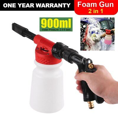 900ML 2 in1 High Pressure Pressure Foam Car Wash Spray Gun Pipe Lance Sprayer AU