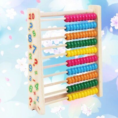 10 Row Wooden Abacus Children Kids Counting Number Maths Learning Toy AU Ship
