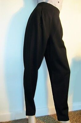 80's Black COUNTRY ROAD High Waist,Tapered Leg Pants, Suit Career, Sz 8, Wool
