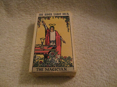 Vintage Rider Tarot Deck WR78 THE MAGICIAN Complete 78 Cards & Instructions 1971