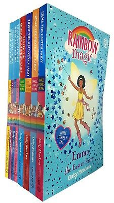 School Days Fairies and Rainbow Magic Series 8 Books Collection Set NEW